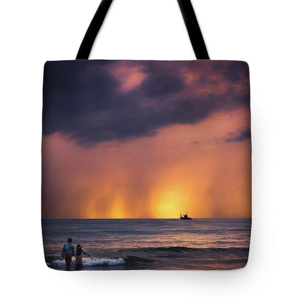 Horizon Tote Bag by Marji Lang
