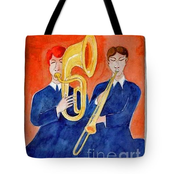 Horn Duo Tote Bag by Fred Jinkins