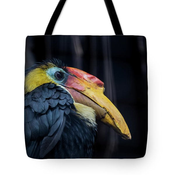Tote Bag featuring the photograph Hornbilled Bird by Scott Lyons