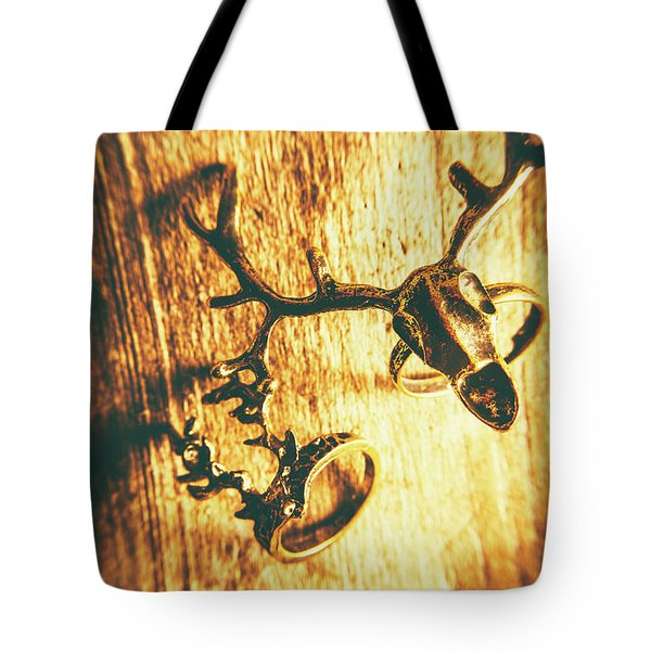 Horned Animal Rings Tote Bag