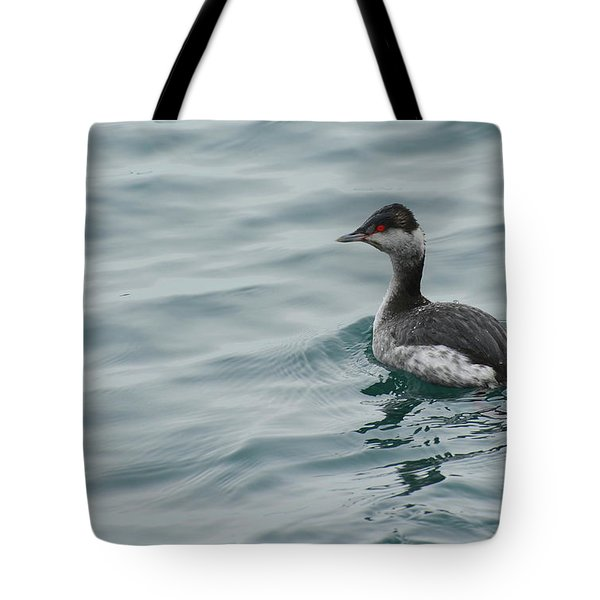 Horned Grebe Tote Bag