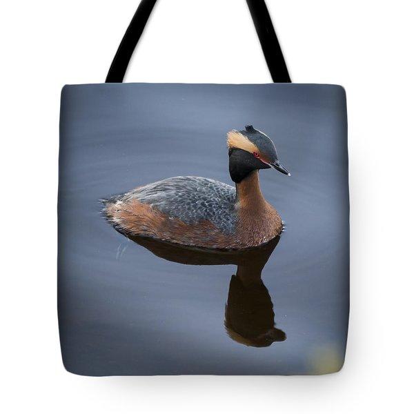 Horned Grebe Tote Bag