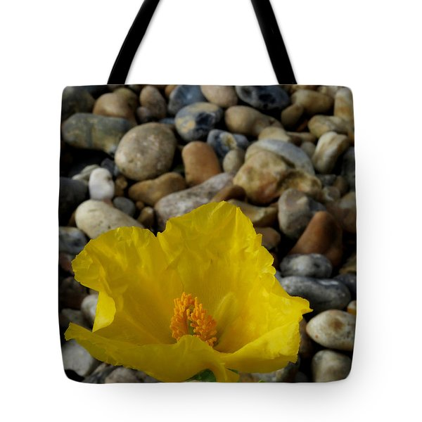 Horned Poppy And Pebbles Tote Bag