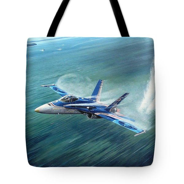 'hornet 20th Anniversary Over Myall Lake Nsw' Tote Bag