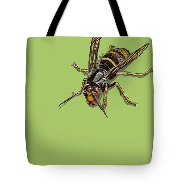 Tote Bag featuring the painting Hornet by Jude Labuszewski