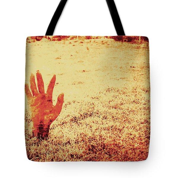 Horror Hand Of A Zombie Awakening Tote Bag