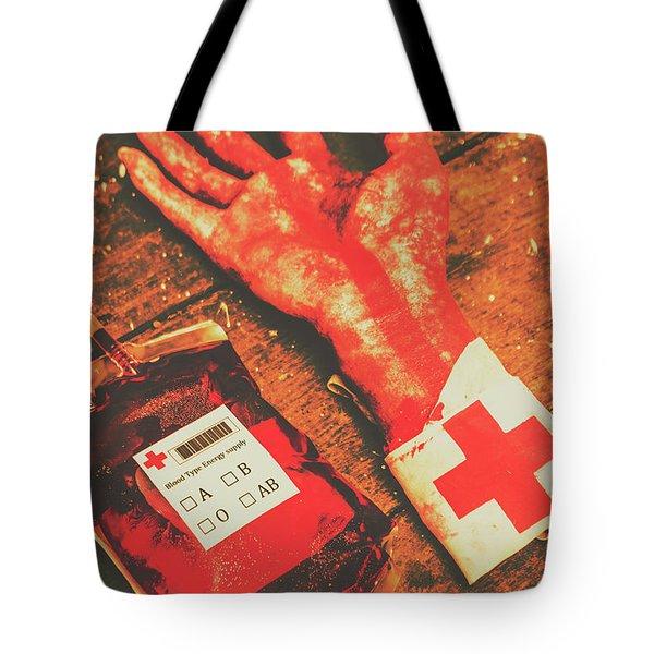 Horror Hospital Scenes Tote Bag