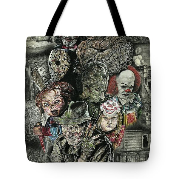 Horror Movie Murderers Tote Bag