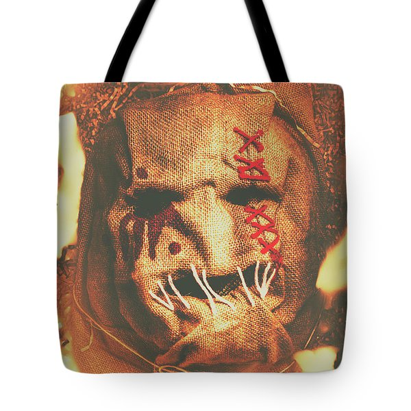 Horror Scarecrow Portrait Tote Bag