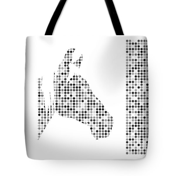 Horse 1 Black And White Tote Bag