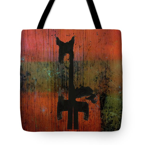 Horse And Barn Abstract  Tote Bag
