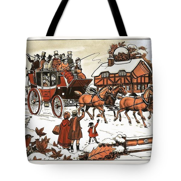 Horse And Carriage In The Snow Tote Bag