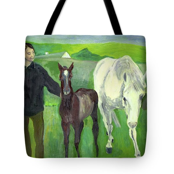 Horse And Foal Tote Bag
