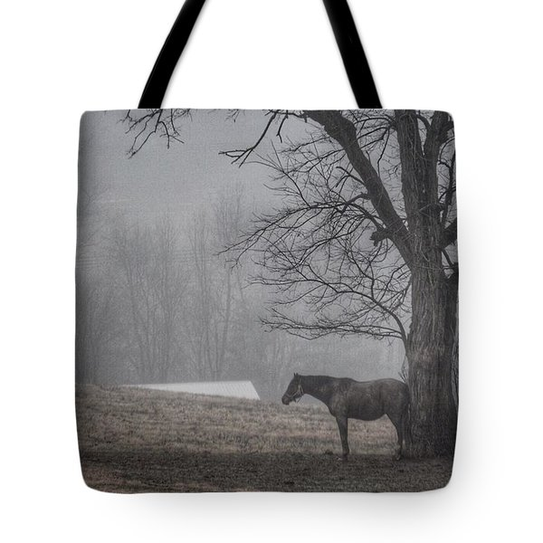 Horse And Tree Tote Bag by Sumoflam Photography