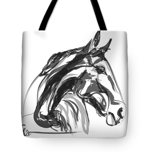 horse - Apple digital Tote Bag