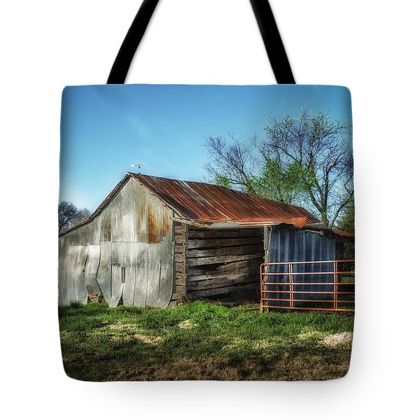 Horse Barn In Color Tote Bag
