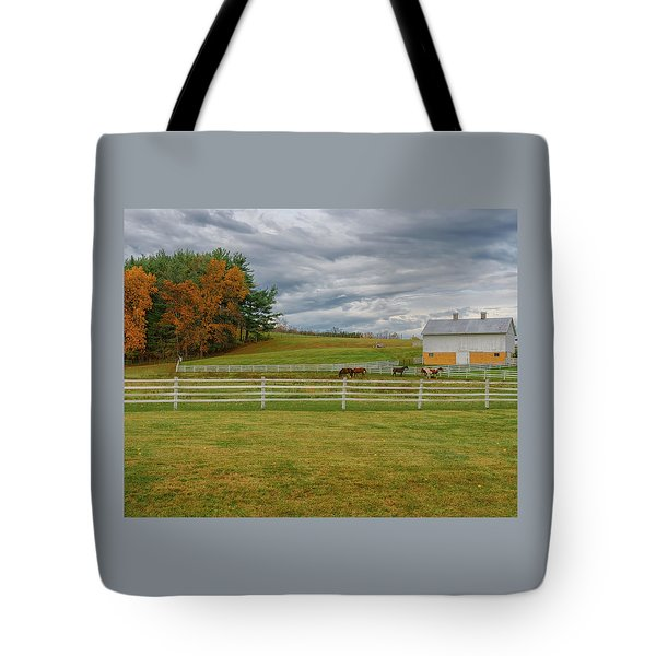 Horse Barn In Ohio  Tote Bag