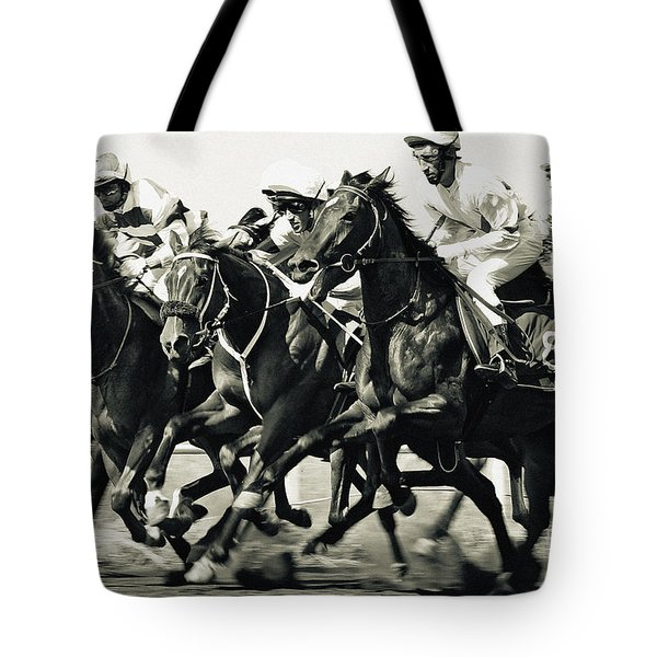 Horse Competition Vi - Horse Race Tote Bag