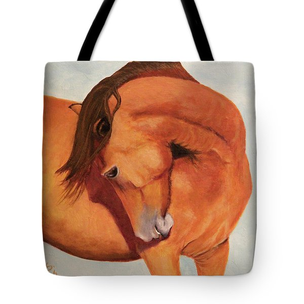 Horse Curves Tote Bag