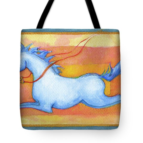Horse Detail From H Medieval Alphabet Print Tote Bag