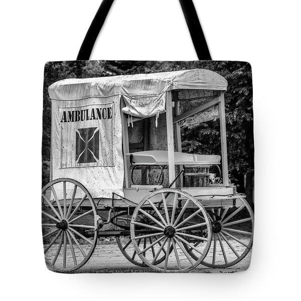 Horse Drawn Ambulance  Tote Bag by Ken Morris
