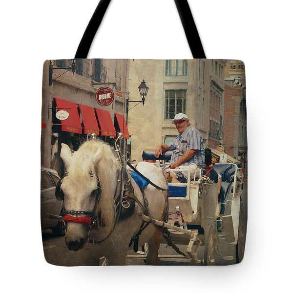 Horse Drawn Carriage - Old Montreal Tote Bag