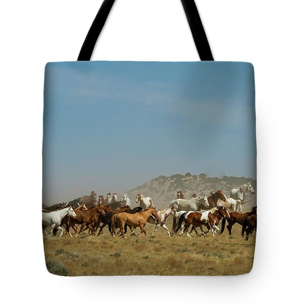 Horse Drive Tote Bag