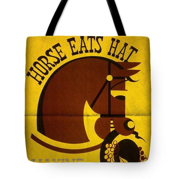 Horse Eats Hat - Maxine Elliot's Theatre - Vintage Poster Folded Tote Bag