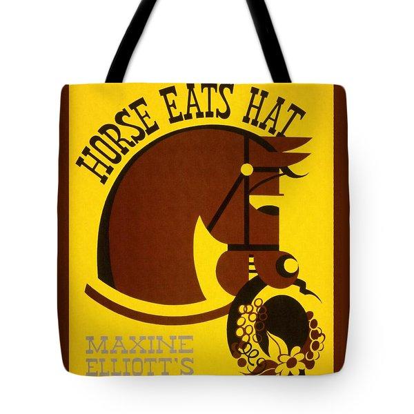Horse Eats Hat - Maxine Elliot's Theatre - Vintage Poster Restored Tote Bag