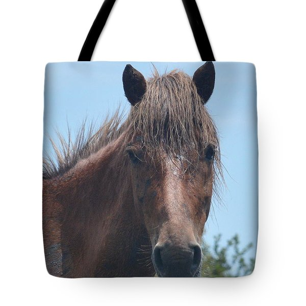 Horse Face Tote Bag