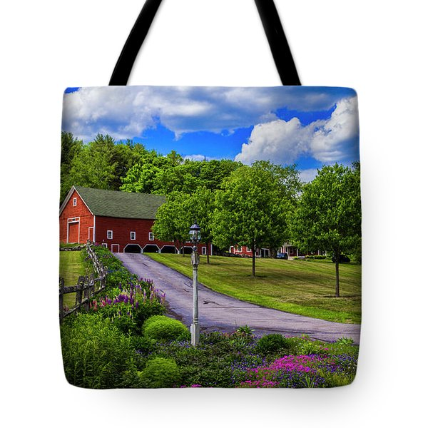 Horse Farm In New Hampshire Tote Bag