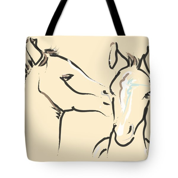 Horse-foals-together 6 Tote Bag