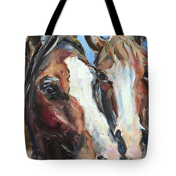 Horse Heads Tote Bag