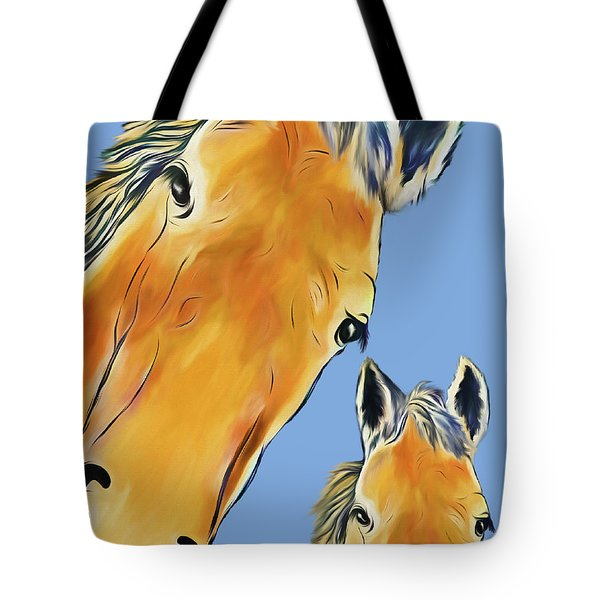 Horse Heads Tote Bag
