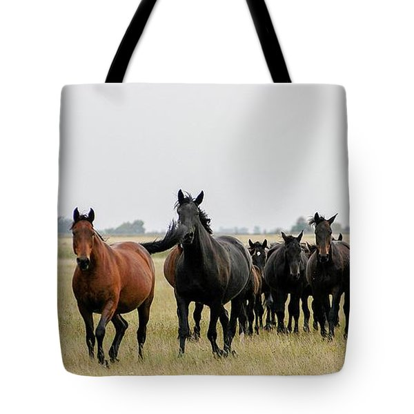 Horse Herd On The Hungarian Puszta Tote Bag
