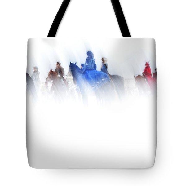 Horse Hunt #8017 Tote Bag