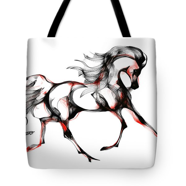 Horse In Extended Trot Tote Bag