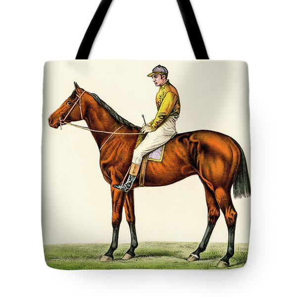 Tote Bag featuring the photograph Horse Jockey by David Letts
