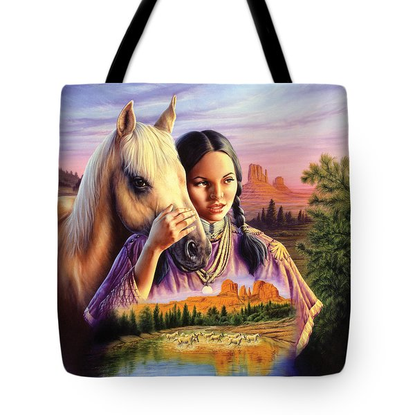 Horse Maiden Tote Bag by Andrew Farley
