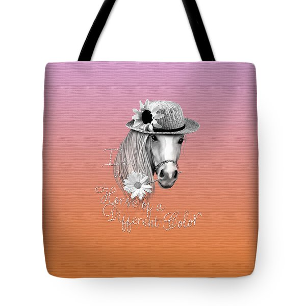 Horse Of A Different Color Tote Bag by Cindy Anderson