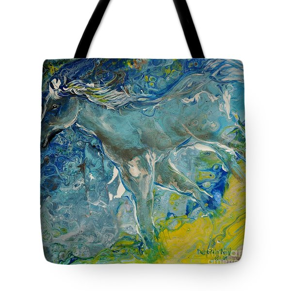 Tote Bag featuring the painting Horse Of A Different Color by Deborah Nell