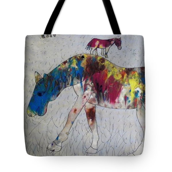 Horse Of A Different Color Tote Bag by Thomasina Durkay