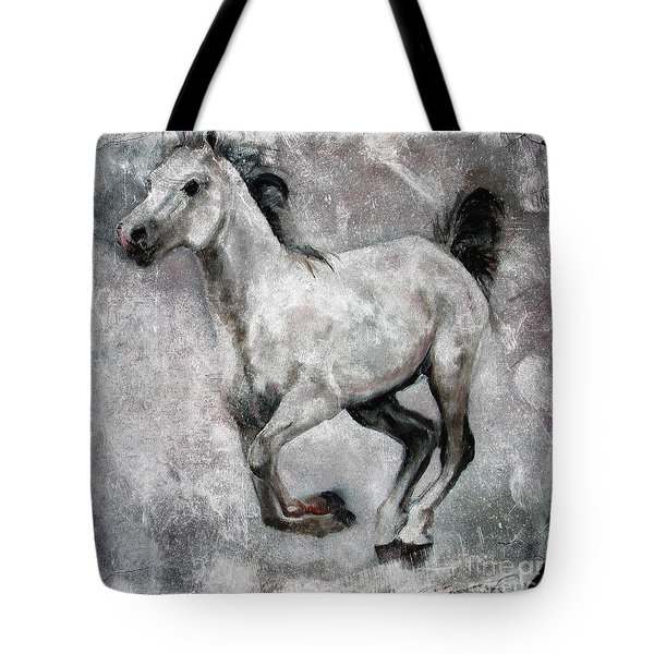 Horse Painting Stallion Lipizzaner Tote Bag