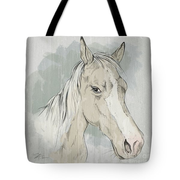 Horse Portrait-farm Animals Tote Bag