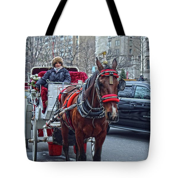 Horse Power Tote Bag by Sandy Moulder