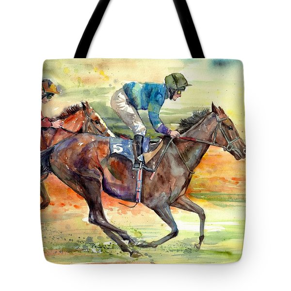 Horse Races Tote Bag