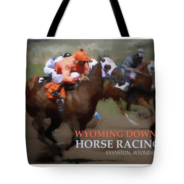 Race To Your Dreams Tote Bag by Alexandra Ortiz de Fargher