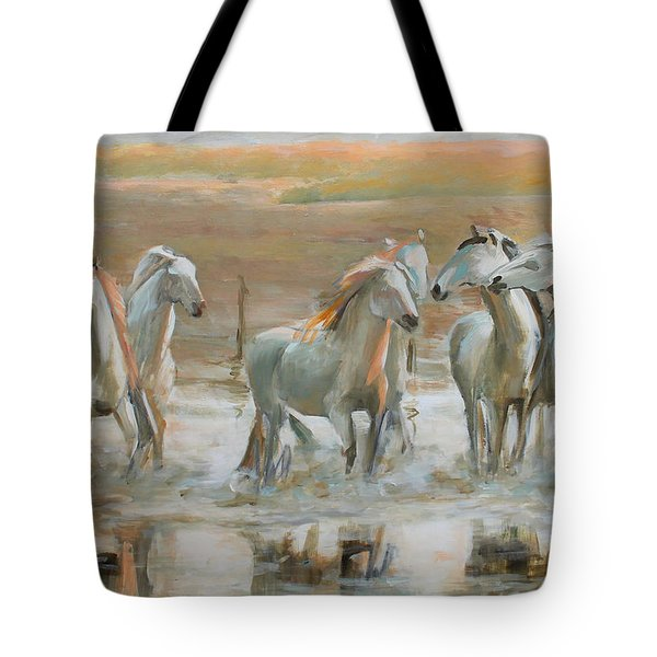 Horse Reflection Tote Bag
