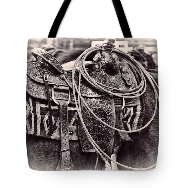 Horse Saddle Tote Bag