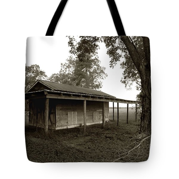 Horse Shelter Tote Bag by Joseph G Holland